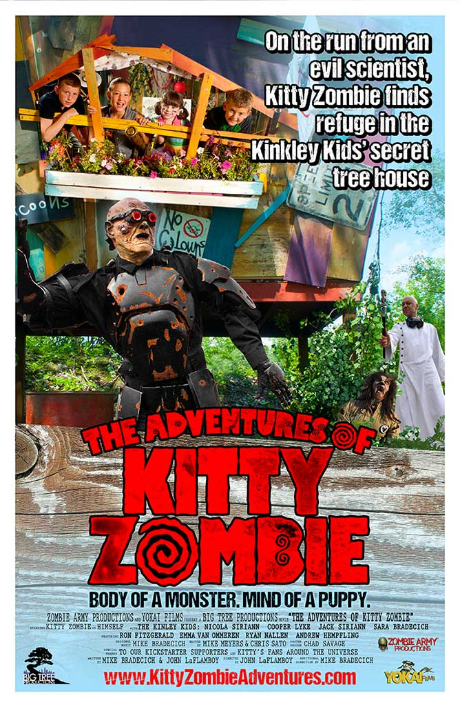 The Adventures of Kitty Zombie Poster